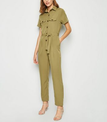 Cameo Rose Khaki Utility Boilersuit