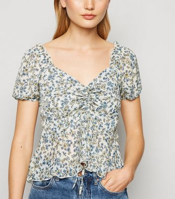 Tokyo Doll White Ditsy Floral Milkmaid Top