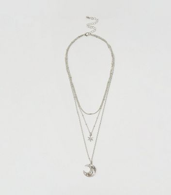 Silver Layered Celestial Necklace