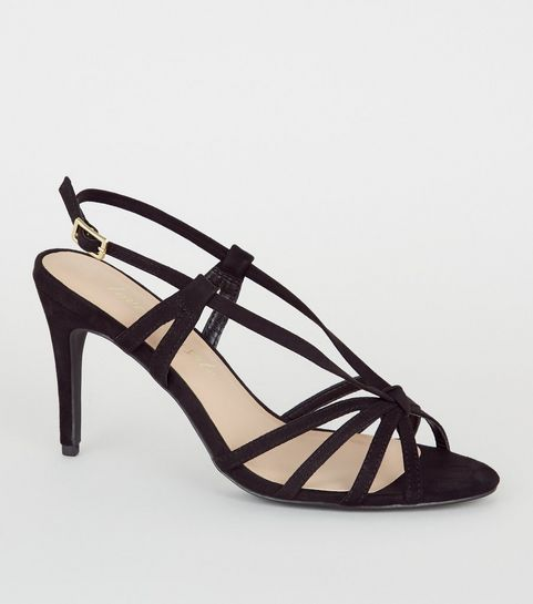 d411cf5c959 Heeled Sandals | Barely There & Strappy Heeled Sandals | New Look