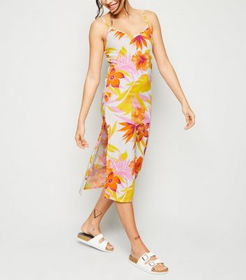 Cameo Rose Yellow Floral Midi Dress