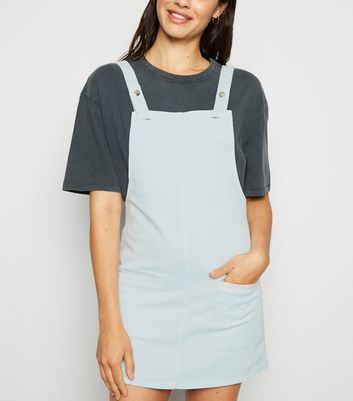 Urban Bliss Light Green Denim Pinafore Dress