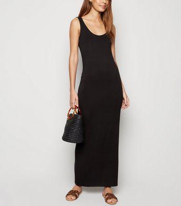 Black Sleeveless Jersey Maxi Dress by New Look