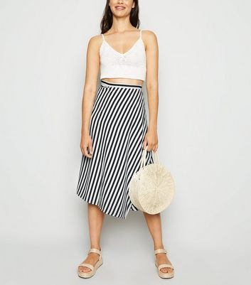 Urban Bliss Blue Stripe Wrap Midi Skirt