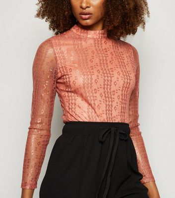 Urban Bliss Mid Pink Lace Bodysuit