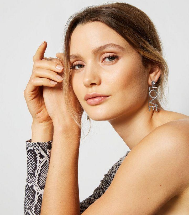 0433cf9e7 ... Silver Diamanté Love Drop Earrings. ×. ×. ×. Shop the look