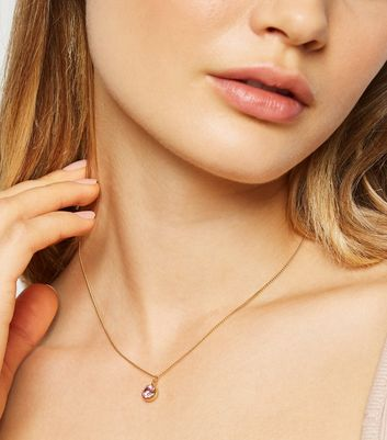 Gold Plated Pendant Necklace with Crystals from Swarovski®