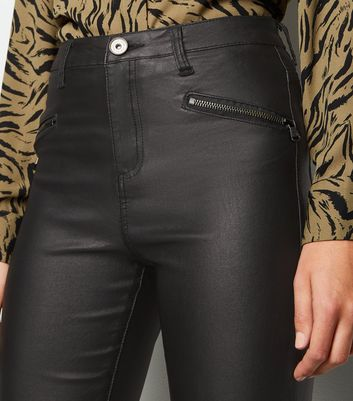 Brave Soul Black Coated Skinny Jeans New Look