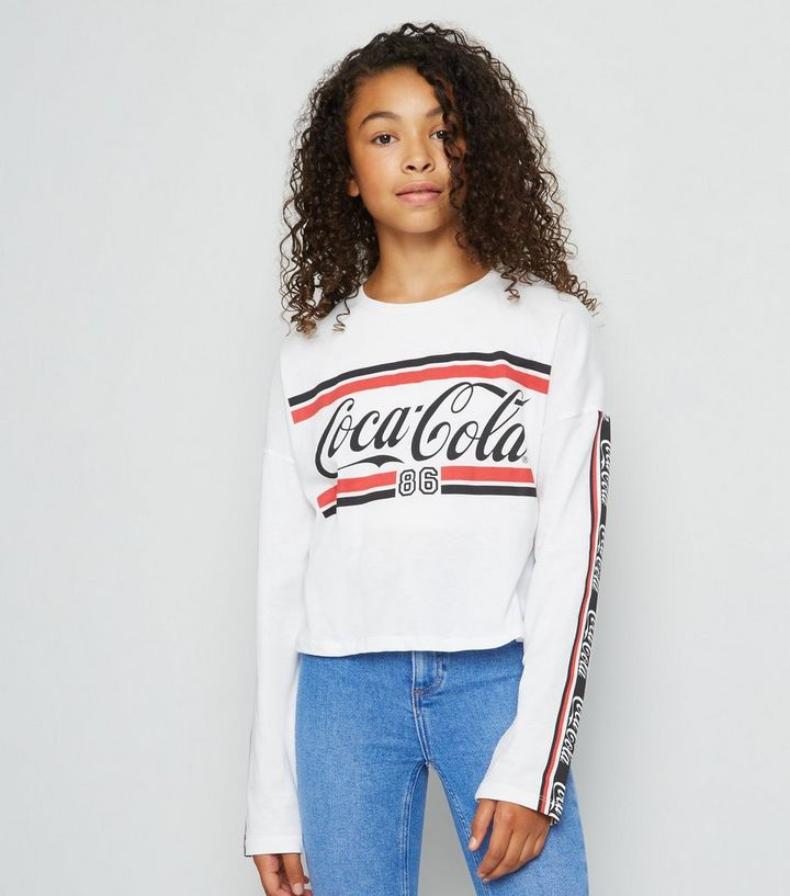 97d151226f Girls White Coca Cola Logo T-Shirt Add to Saved Items Remove from Saved  Items