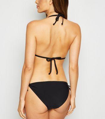 NEW LOOK appliqué à nouer sur les côtés Bas De Bikini Taille 14