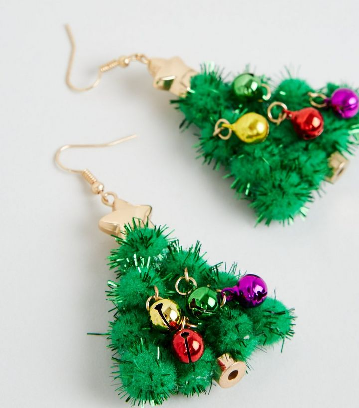 Christmas Tree Tinsel.Green Christmas Tree Tinsel Drop Earrings Add To Saved Items Remove From Saved Items