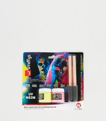 Multicoloured Neon UV Face and Body Paint Kit