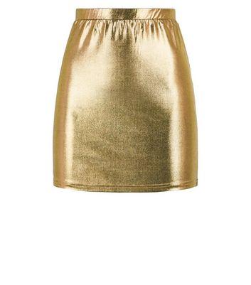 Noisy May Gold Metallic Mini Skirt New Look