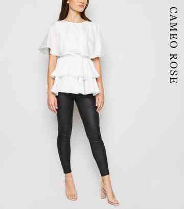 Cameo Rose White Layered Ruffle Top