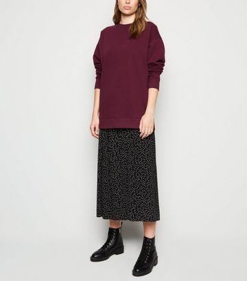 Burgundy Long Sleeve Sweatshirt