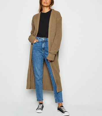 Carpe Diem Camel Cuffed Midi Cardigan by New Look