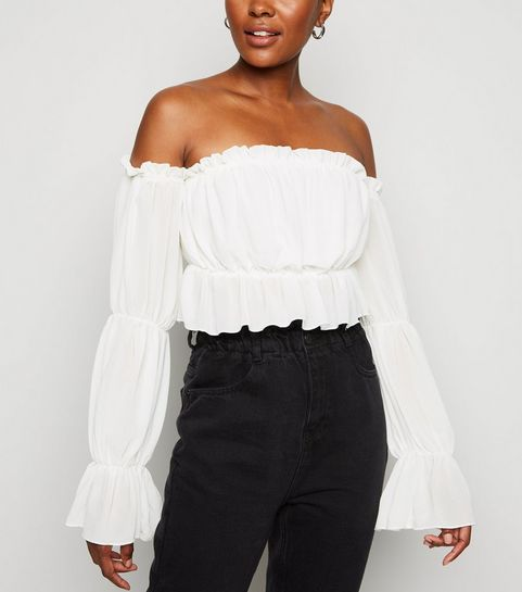17c18bae8e Bardot Tops | Off The Shoulder Tops | New Look