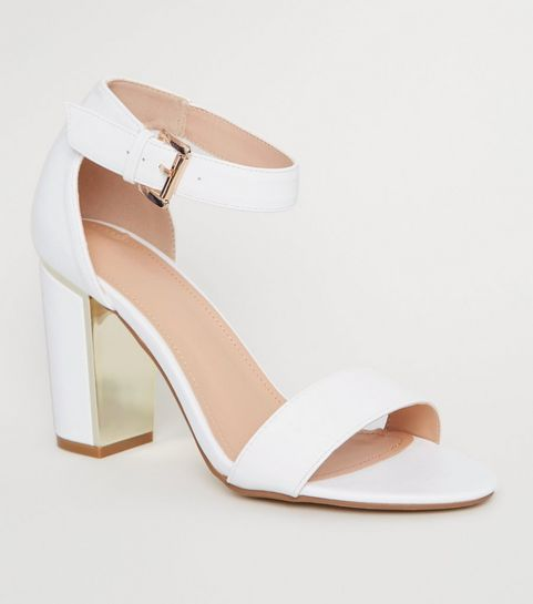 e34bb6a0d54 Heeled Sandals | Barely There & Strappy Heeled Sandals | New Look