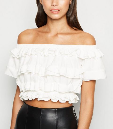 7f22e9b6a4a Crop Tops | Lace & Long Sleeve Crop Tops | New Look
