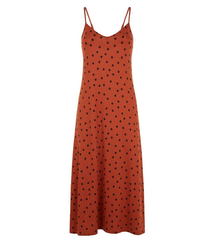 Rush Spot Midi Slip Dress Add to Saved Items Remove from Saved Items