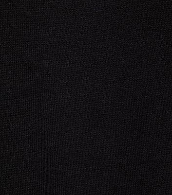 Blue Vanilla Black Diamanté Sleeve Jumper New Look
