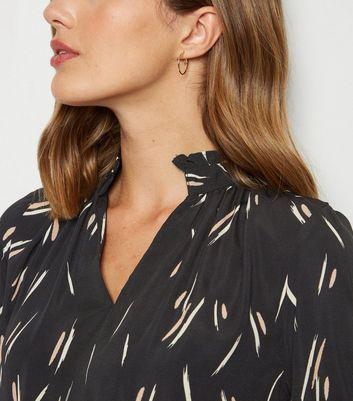 Influence Black Stripe Smock Dress New Look