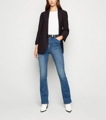 Blue Waist Enhance Bootcut Jeans