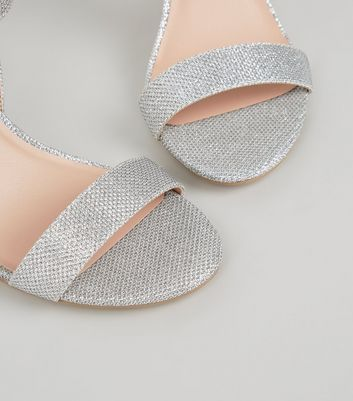 Extra Wide Fit Silver Glitter 2 Part
