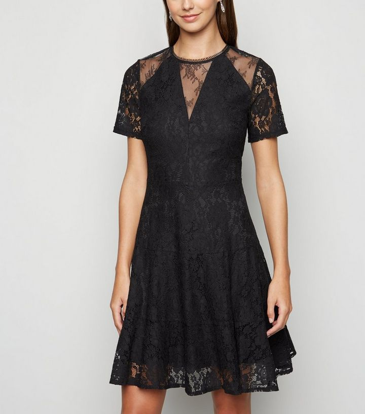 Black Lace Skater Dress Add To Saved Items Remove From Saved Items