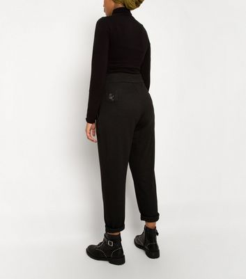 Till We Cover Black High Waist Trousers New Look