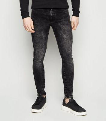 Black Washed Super Skinny Stretch Jeans Add to Saved Items Remove from Saved Items