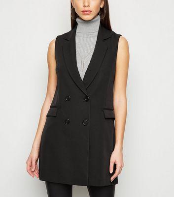 Black Longline Waistcoat by New Look
