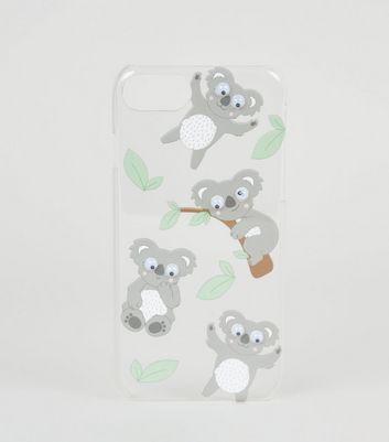 Coque d'IPhone 6/6s/7/8 gris foncé design koala