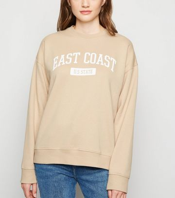 Camel East Coast Slogan Sweatshirt