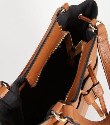 shop for Tan Grab Handle Drawstring Duffle Bag New Look Vegan at Shopo