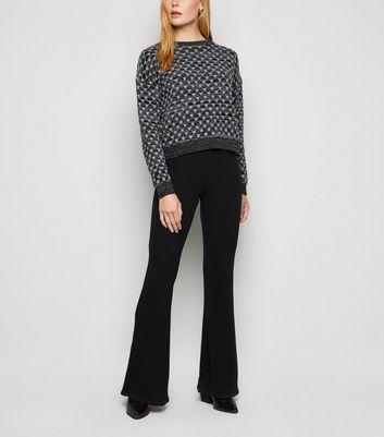 Carpe Diem Black Geometric Knit Jumper New Look