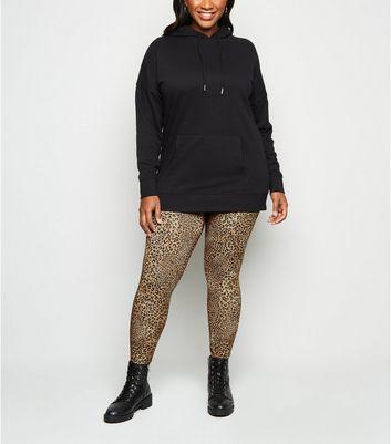 Curves Light Brown Leopard Print Leggings by New Look