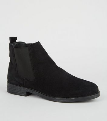 Black Suede Chelsea Boots | New Look