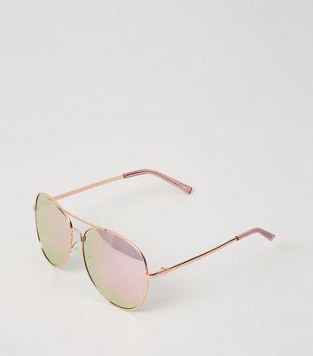 Lunettes de soleil aviateur couleur or rose à verres miroir Ajouter à la Wishlist Supprimer de la Wishlist