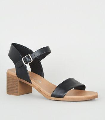 low black heel shoes