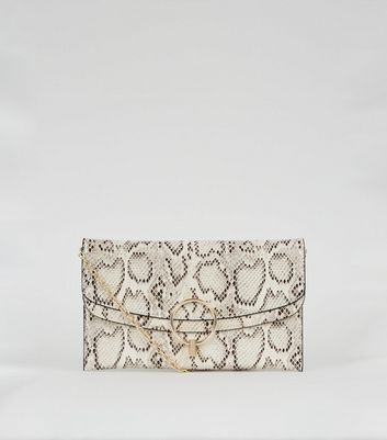 shop for Brown Faux Snake Ring Clutch Bag New Look Vegan at Shopo