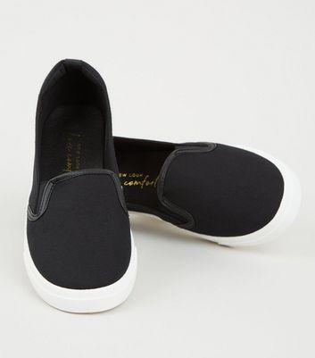 Schwarze Canvas-Sneaker zum