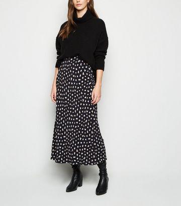 Black Spot Midi Skirt