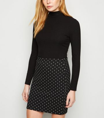 Black Spot Mini Tube Skirt