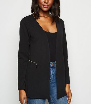 Mela Black Textured Light Jacket