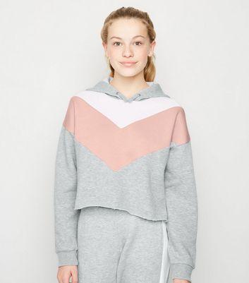 Girls Sweat gris clair à capuche et design color block Ajouter à la Wishlist Supprimer de la Wishlist