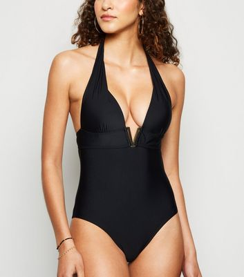 Black 'Lift & Shape' V Front Swimsuit Add to Saved Items Remove from Saved Items