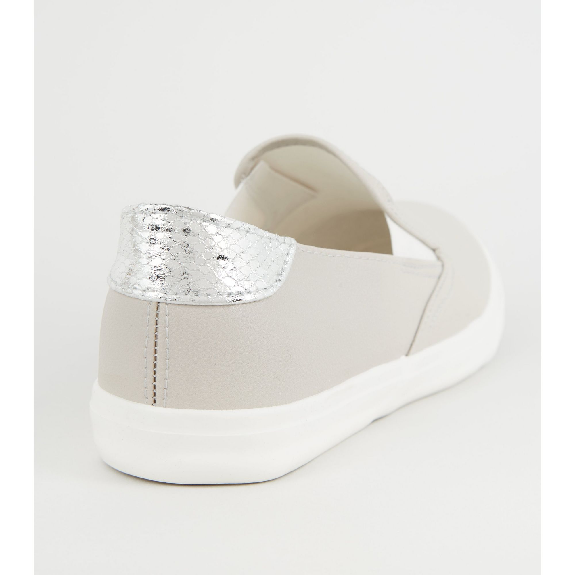 New-Look-Wide-Fit-Leather-Look-Slip-On-Trainers thumbnail 10