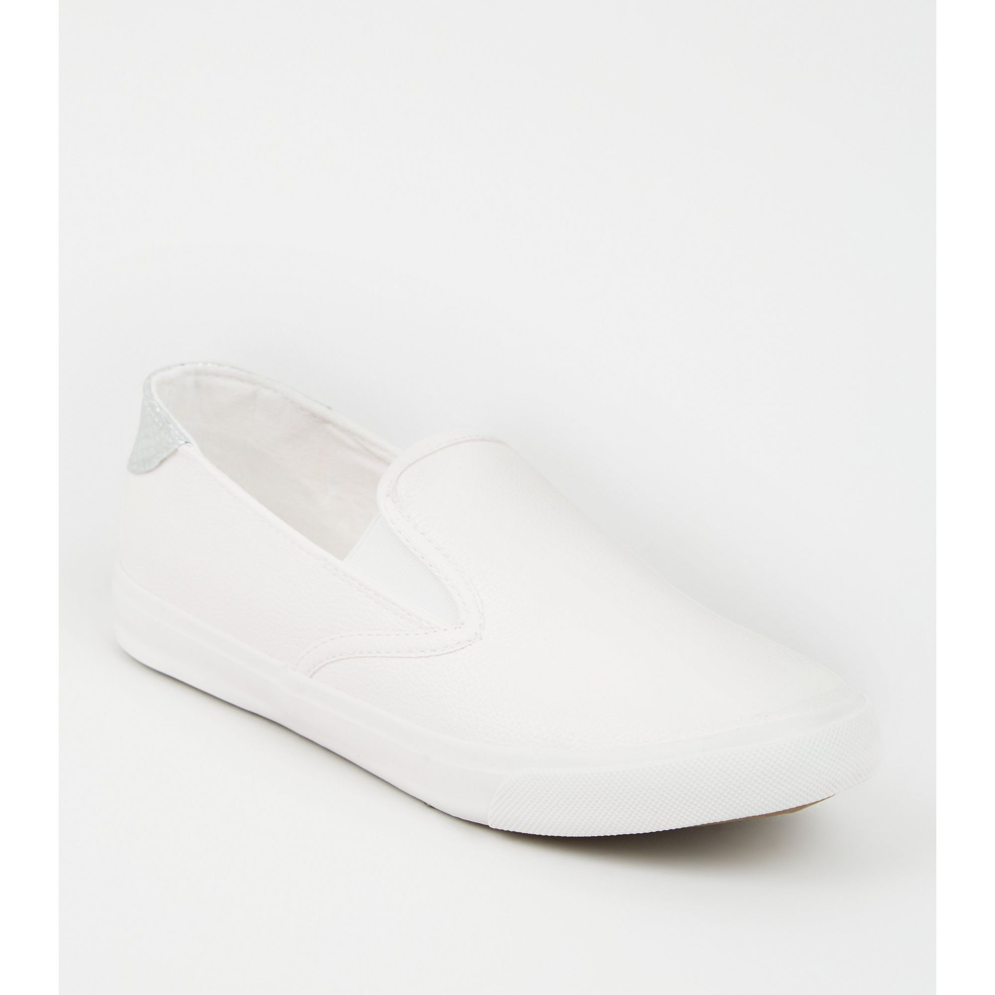 New-Look-Wide-Fit-Leather-Look-Slip-On-Trainers thumbnail 12