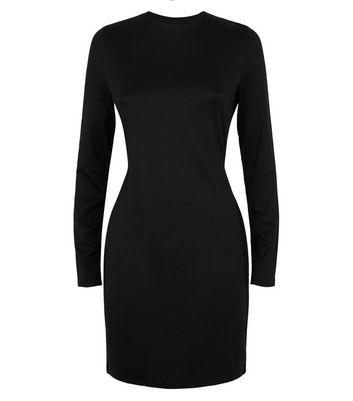NA-KD Black Cowl Back Mini Dress New Look
